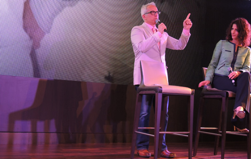 "Golf lover: Iron Chef Geoffrey Zakarian, who operates the Ocean Blue restaurant on the Norwegian Breakaway, told an audience on the ship: ""As I recall it (Bermuda) didn't have the greatest restaurants on the island but I think that's changed."" *Photo by Don Burgess"
