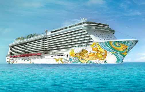 Miami artist David 'LEBO' Le Batard will design the artwork for the hull of the Norwegian Getaway. *Photo supplied by NCL