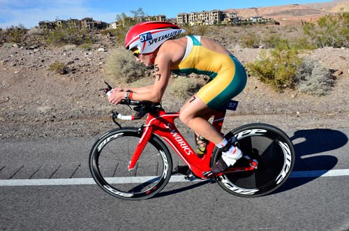 Pro comeback: Nikki Butterfield in action on the bike.