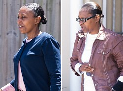 Convicted: Lorraine Smith and Audra-Ann Bean. *File photo by Kageaki Smith